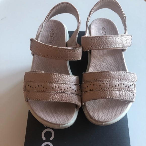 Ecco Girls Sandals Size 511 Rose Dust